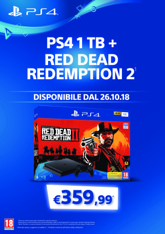 Locandina PS4 1Tb + Read Dead Redemption 2